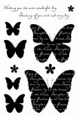 Woodware - Butterfly Medley - Clear Magic Stamp Set - FRCL225